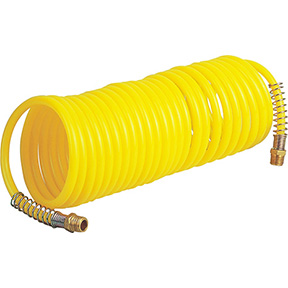 "1/4"" MPT x 50 Ft. Nylon Coil Air Hose 200 psi"