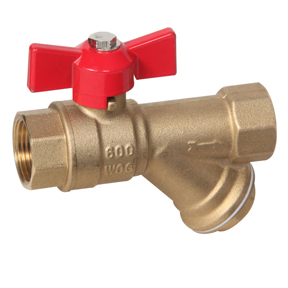 "1/2"" FPT Combo Brass Y-Strainer/Shut-Off Valve 600"