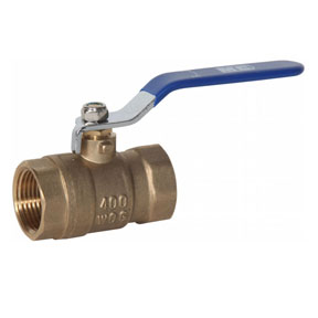 "1/2"" FPT Brass Ball Valve 400 PSI"