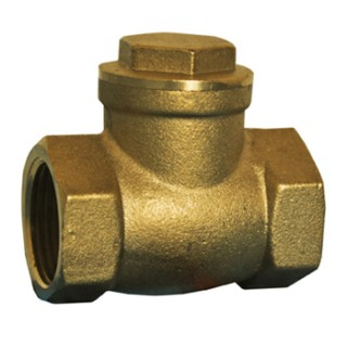 "1"" FPT 200 CWP T-Pattern Brass Swing Check Valve"