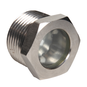 "Sight Glass w/Reflector CS Nickel Plated Body 1/2"" MPT"