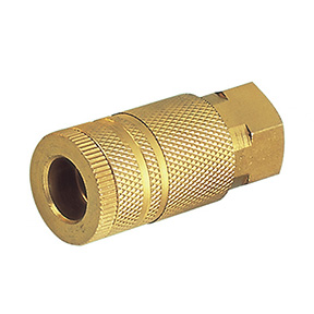 "Industrial Interchange Coupler 1/4"" FPT Brass Body"